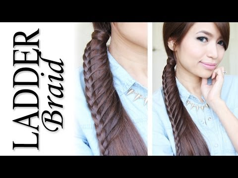Ladder Braid Ponytail Hairstyle Hair Tutorial - Fonott zsinór lófarok frizura