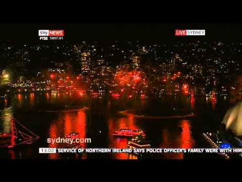 Sydney australia Fireworks 2013 new years eve