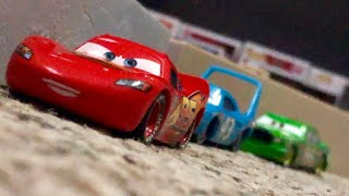 Disney Pixar Cars 1 The King's Crash Re-enactment Stop Motion | Lightning Learns To Drift 🏎💨