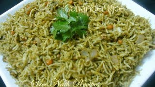 Coriander  Rice - Lunch  Box Recipe - Variety Rice Recipes...