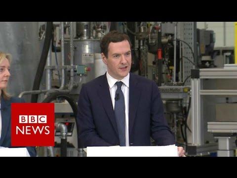 George Osborne defends Treasury's gloomy EU exit forecast - BBC News