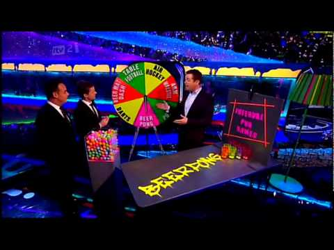 Britain's got more talent - Interview with Ant and Dec and the Live Interval Pub Game