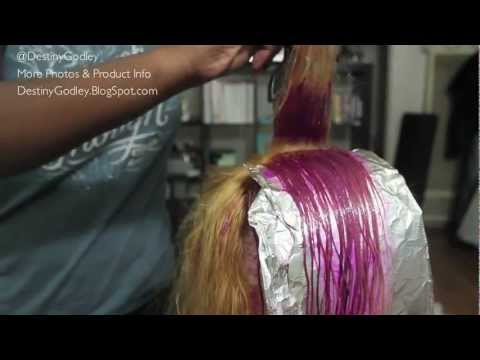 how to DYE hair PINK | Lace Wig