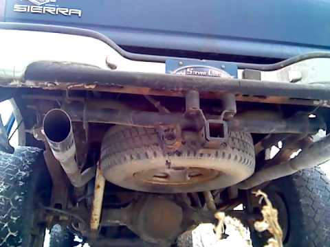 2000 GMC Sierra 2500 6.0 True Dual Straight Pipes