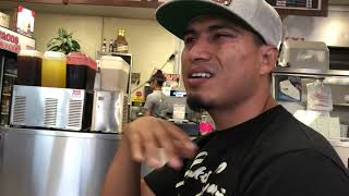 Dinner with Mikey Garcia and fam!!!! ( real time )