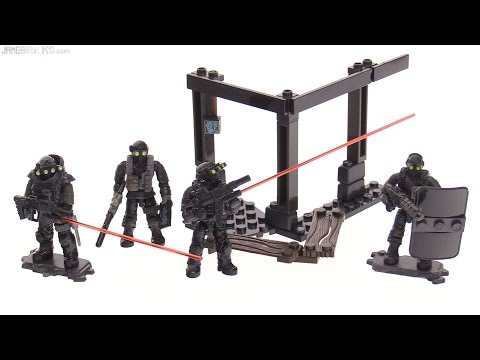 Mega Construx Call of Duty Night Ops Blackout Squad review