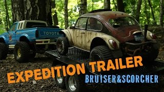 RC Expedition Trailer Toyota Bruiser 4x4 Scale Cars & Sand Scorcher