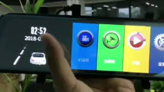 10 inches touch screen rearview mirror camera full screen.1080P,170 wide angle
