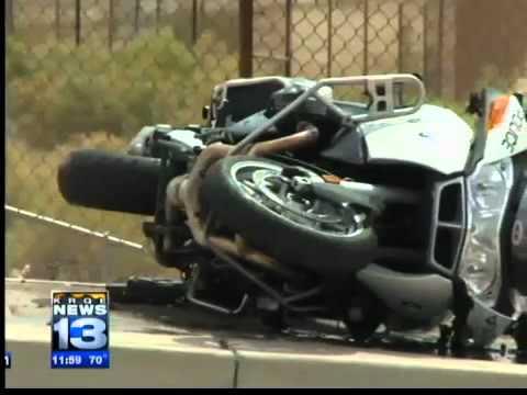 0 Motorcycle officer hit after car crash