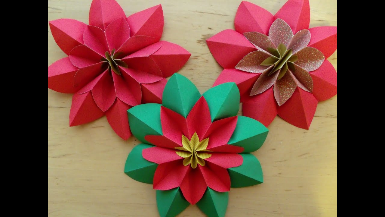 How to fold a poinsettia flower origami youtube