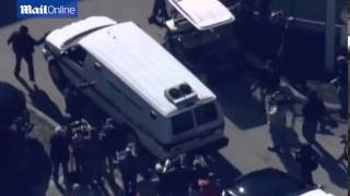 Police van believed to be transporting Justin Bieber   Mail Online