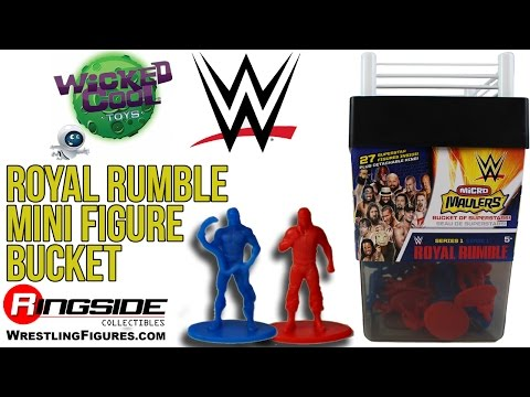 WWE FIGURE INSIDER: Micro Maulers - Royal Rumble Mini Figure Bucket (27 Figures) by Wicked Cool Toys