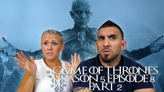 Game of Thrones Season 5 Episode 8 'Hardhome' Part 2 REACTION!!