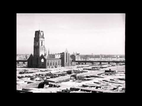 Bombardement Rotterdam 1940: gebied Laurenskerk na ruiming