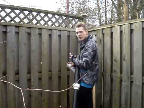 How to install a Ham Radio Antenna using a Potato Canon - Redneck Canadian Style! # 7