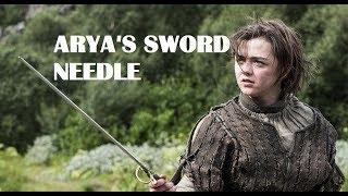 Arya vs Brienne - Needle & Arya cutting with it