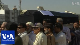 Funeral prayers in Karachi, Pakistan for the victim in US school shooting