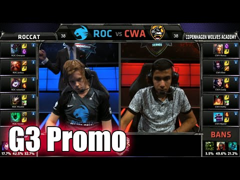 ROCCAT vs Copenhagen Wolves Academy | Game 3 S5 EU LCS Summer 2015 Promotion | ROC vs CWA G3