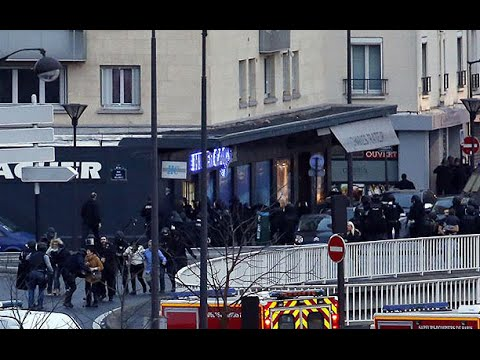 Watch: Explosions as police storm Paris supermarket