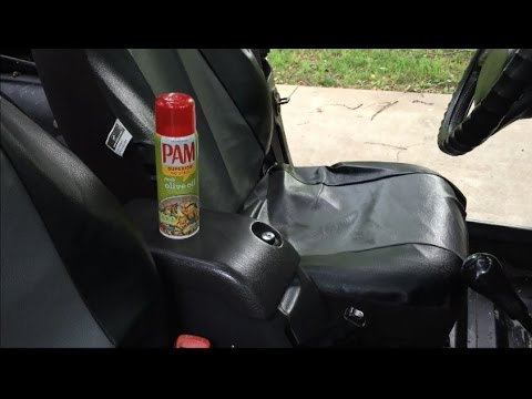 Restoring you car/truck sun faded dash and door panel with Peanut Butter and Cooking Spray!