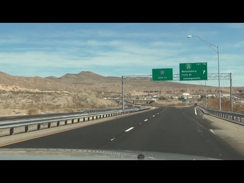 I-25 North through Truth or Consequences, NM (March 2013)
