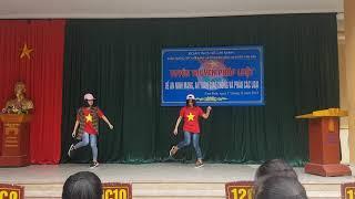 [ THPT Nam Đàn 2 ] Shuffle Dance Đỉnh Nhất | Cặp đôi nữ sinh lớp 10 khiến cả trường trường thán phục