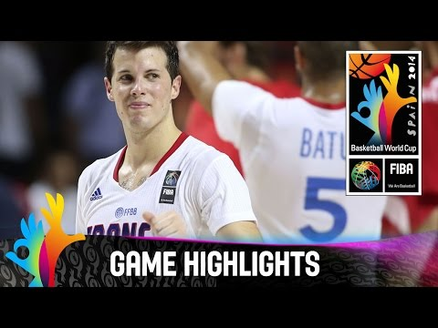 France v Croatia - Game Highlights - Round of 16 - 2014 FIBA Basketball World Cup