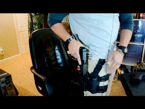 Blackhawk CQC Serpa Holsters. Tactical Drop Leg Platform. Quick Disconnect. Glock 20 and USP 9mm