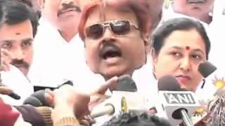 Vijaykanth Latest Angry Speech