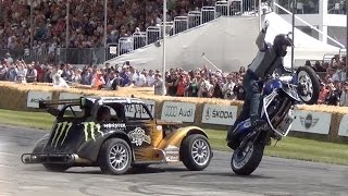 Stunt Bike and Drift Car Madness - Donuts Around People, Wheelies and Crazy Drifting