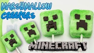 Minecraft Creeper Marshmallow Lollipop/Pops Party Treats - Super Easy and Fun(No Bake)