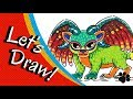 How to draw Pepita Alebrije from Coco Step by Step | CUTE AND EASY | Easy Drawings for Kids