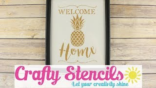 Welcome Home Pineapple Craft Stencil