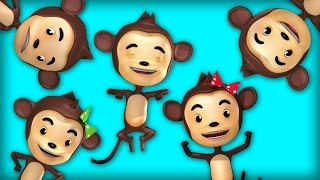 Five Little Monkeys Jumping On The Bed | Nursery Rhymes | Animation Rhymes For Children