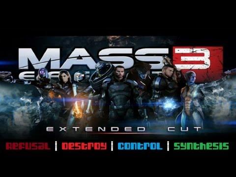 Mass Effect 3: Extended Cut - ALL four full endings