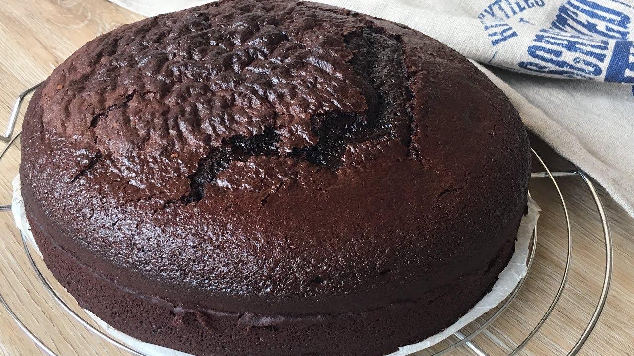 Bizcocho De Chocolate Facil Mezclar Hornear Y Listo