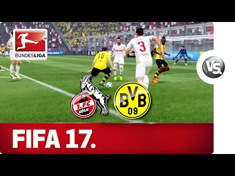 1. FC Köln vs. Borussia Dortmund - FIFA 17 Prediction with EA Sports