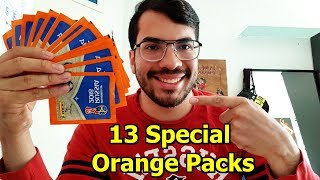 13 SPECIAL ORANGE PANINI STICKER PACKS UNBOXING | Stickers Russia 2018 Collection Gold Edition