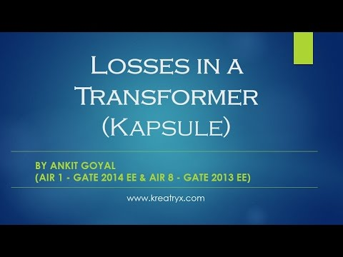 Losses in a Transformer - Electrical Machines (Kapsule)