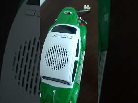 Caixa de som portátil Fusca - MP3/4 e FM