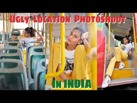 UGLY LOCATION PHOTOSHOOT CHALLENGE IN INDIA / Mridul Sharma
