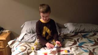 Mr. G reading Mouse Paint