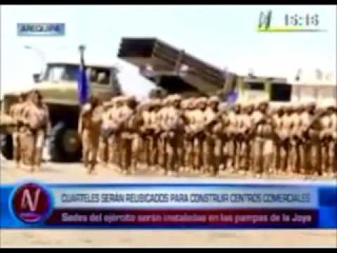 Ejército Peruano va a Tener un Cuartel en la Joya Arequipa