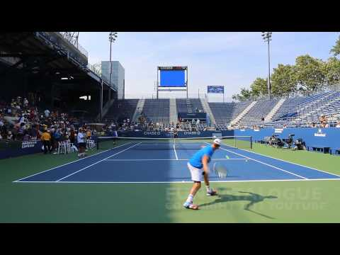 Andy Roddick / Somdev Devvarman 2013 Last Warmup Before Retirement 2012  1 / 10