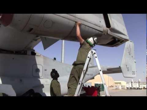 MV-22 Osprey Maintenance, U.S. Marines, Camp Bastion, Helmand Province, Afghanistan