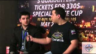 United Poker Series. Тбилиси 16-25 мая 2014. Красимир панковски