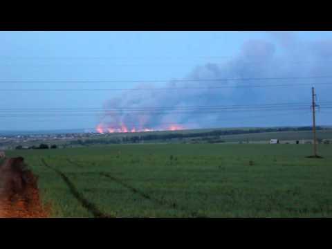 Взрыв на военном арсенале в Удмуртии.avi