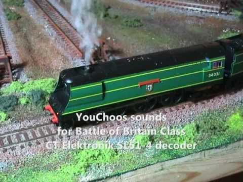YouChoos Hornby West Country Class DCC Sound+smoke+light