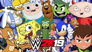 CARTOON ROYAL RUMBLE | WWE 2K19 Gameplay
