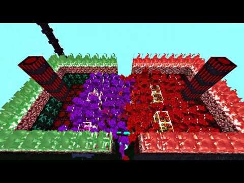 COMBATES GOLEM ROJO VS GOLEM MORADO AbyssalCraft Mod